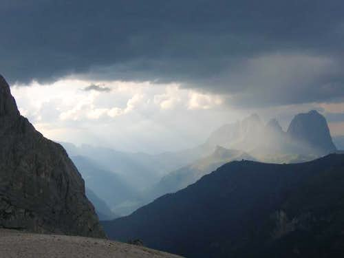 View from Marmolada during a...
