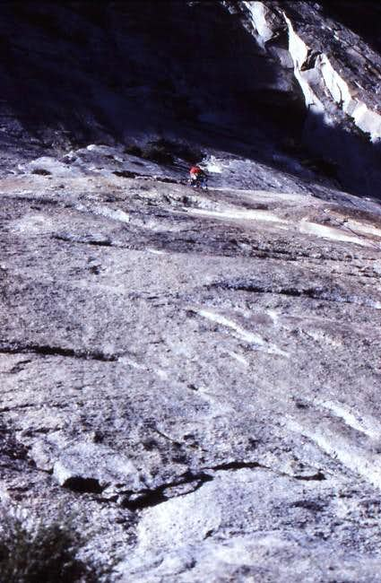 Pitch 1 on the 1st ascent of...