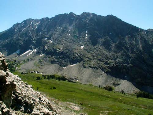 Duncan Peak\'s northwest face...