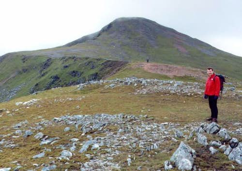 Nearing the top of Stob a'...