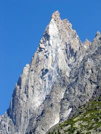 Les Drus from Mer de Glace