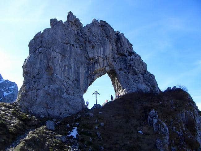 Arco di Prada on the path to...