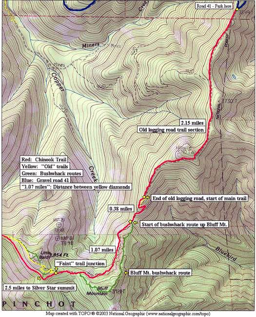 Trail map of the area created with NG TOPO! software