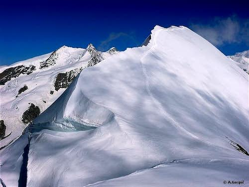 On the ridge of Breithorn...