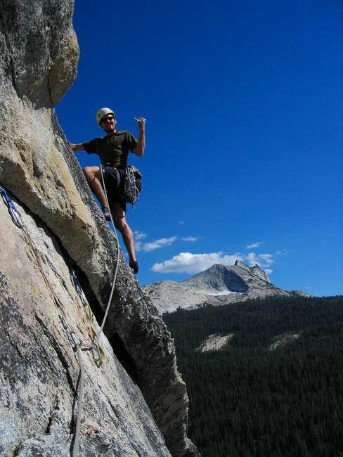 Stephen Quale climbing...