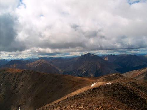 The view from Mt. Elbert's...
