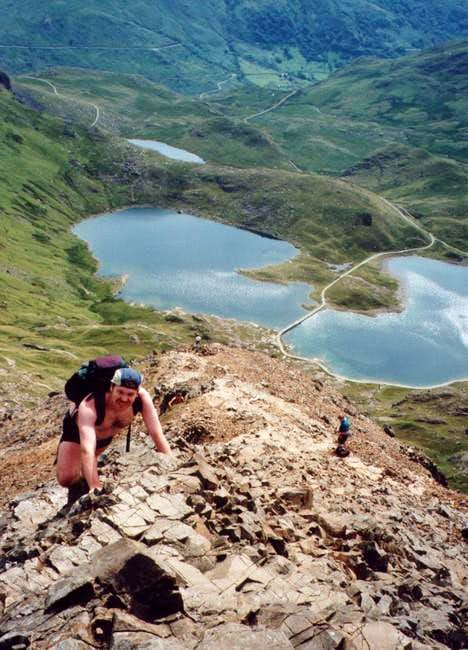 A scortcher on Crib Goch.