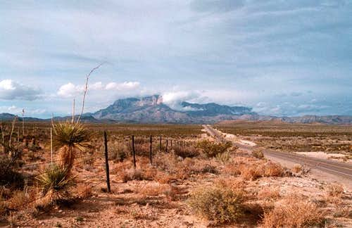 Guadalupe Peak was ony partly...