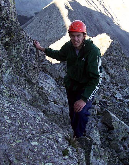 A climber encountering the...