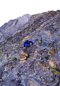 Climber on the SW Ridge...