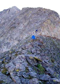 Climbers making their way up...