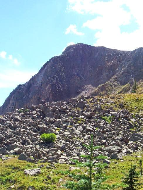 Along the north ridge looking...