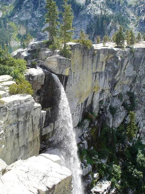 The top part of the falls...