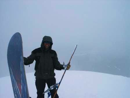 Snowy conditions on the top...