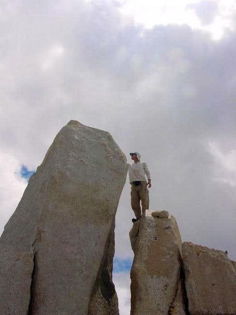 Matthew examines the summit...