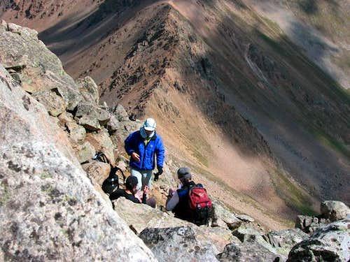 Just below Casco summit...