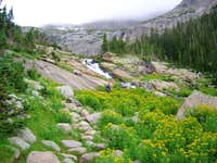 On the trail in Glacier Gorge...