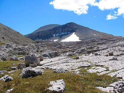 Doubletop Peak from ledges...