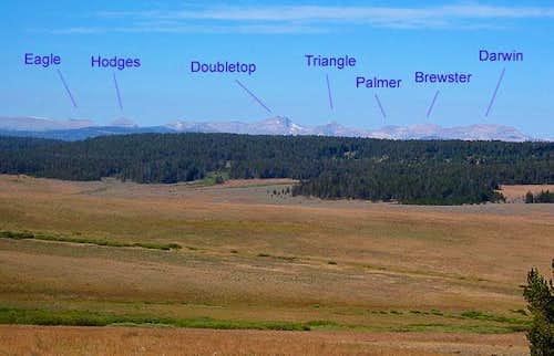 The Gros Ventre Range as seen...