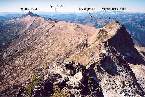 The view west from the summit...