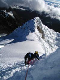 The first pitch on the summit...