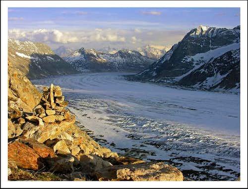 Aletch Glacier from Concordia...