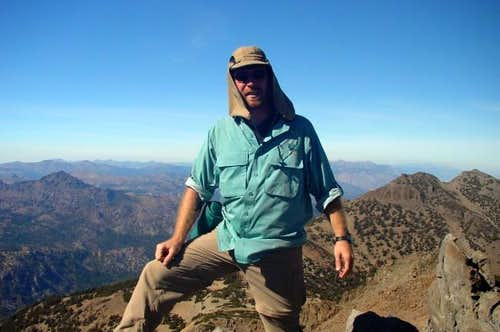 Adam on Highland Peak's...