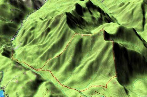 3D Topo profile of the route...