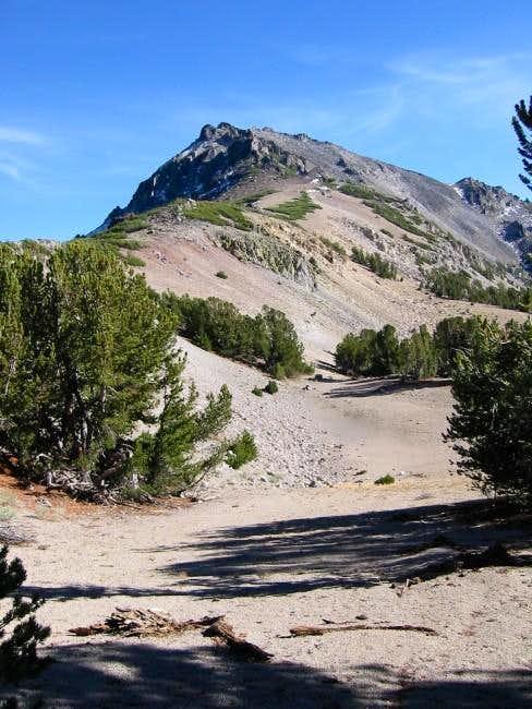 Highland Peak from the saddle...
