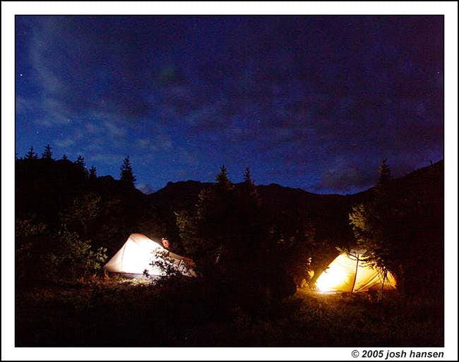Some nice camping spots in...