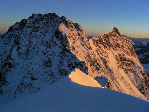 Dufourspitze and Nordend at...