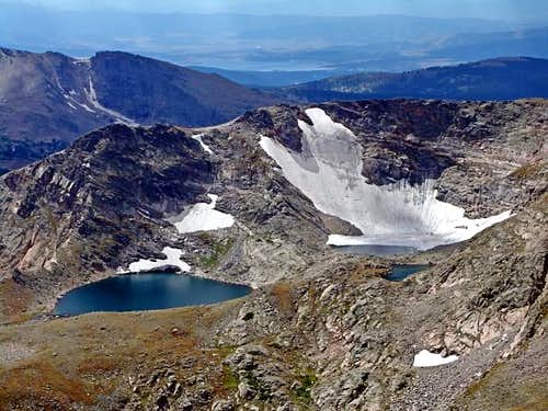 Sprague Glacier and Rainbow Lake