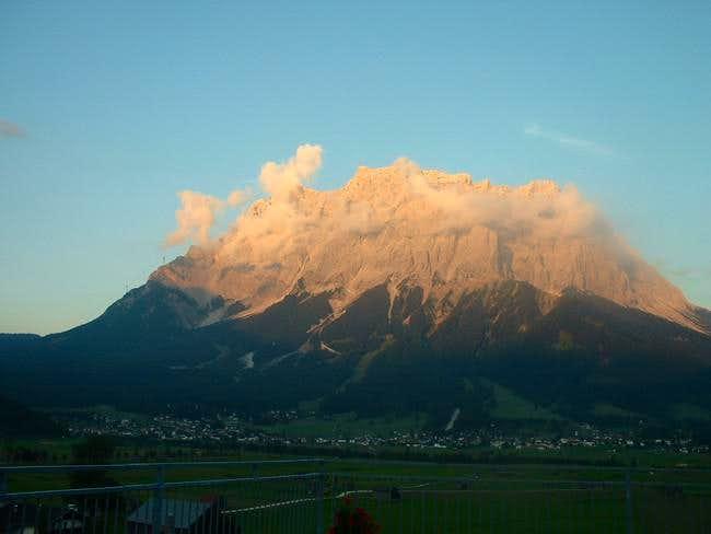 Zugspitze from a restaurant...