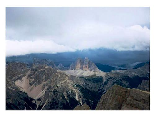 Tre Cime viewed from the top...