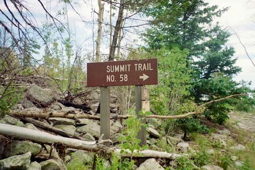 The start of the Summit Trail.