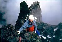 Near the summit, Three...