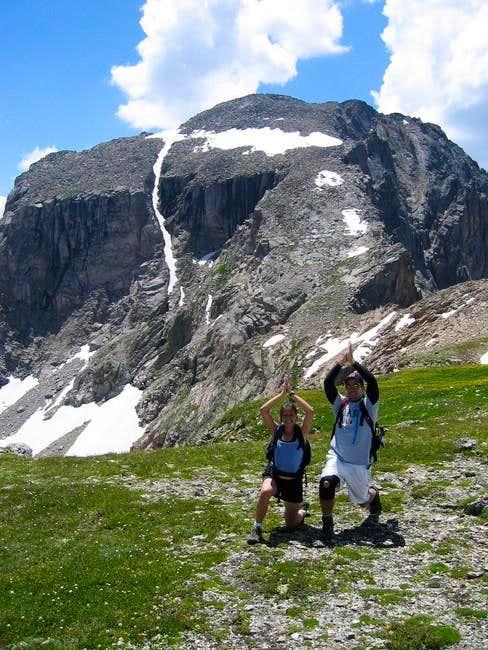 We ascended via Boulder Grand...