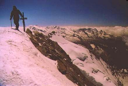 On the summit. Monte Rosa in...