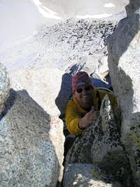 Cresting the North Ridge of...