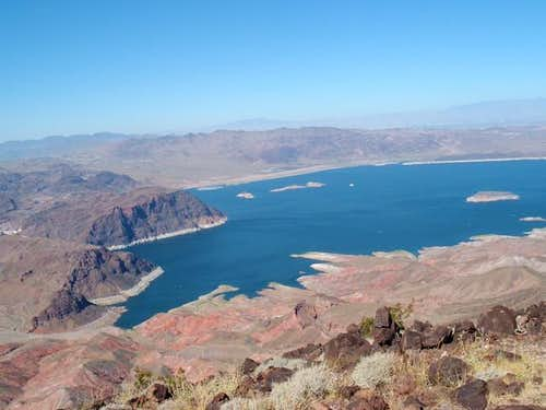 View of Lake Mead from the...