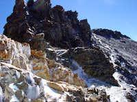 The ridgeline up Mount...