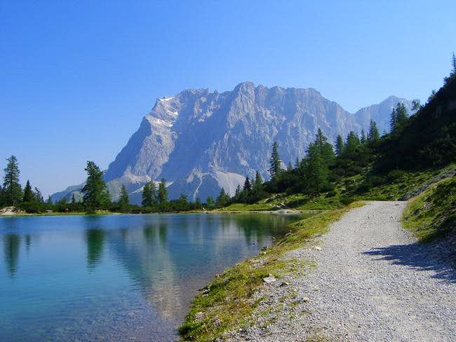 Zugspitze taken from the...
