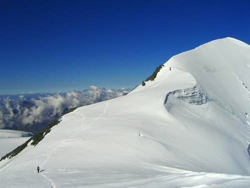 Uncommon view of Breithorn...