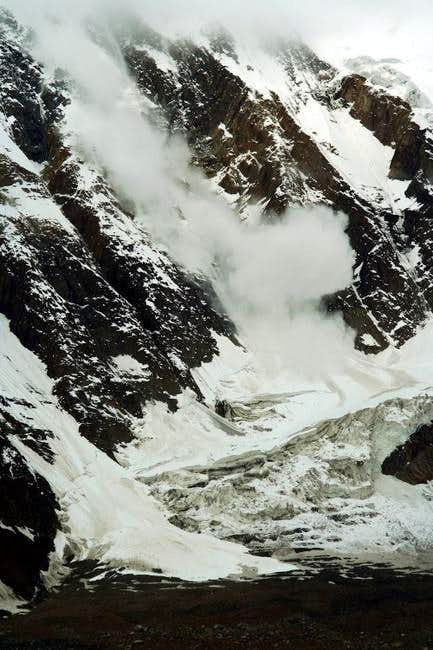 An avalanche rolling down...