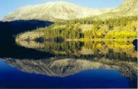 Mt. Starr reflection in rock...