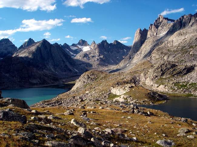 Upper Titcomb Basin from just...