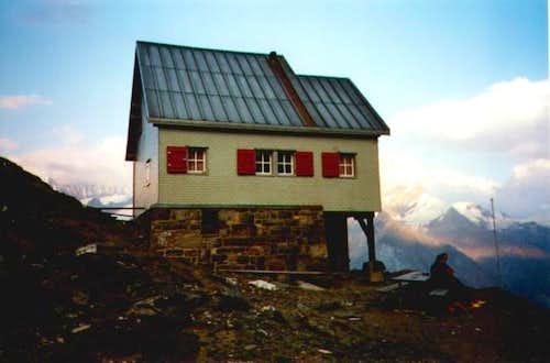 Weisshorn Hut on August 19,...
