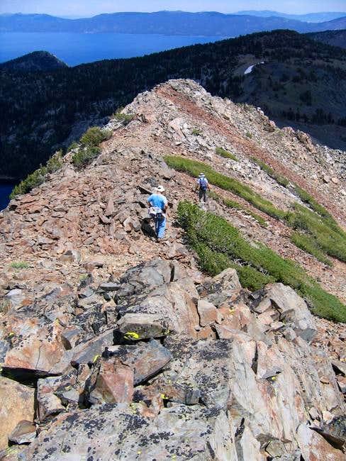 Descending the NE ridge of...