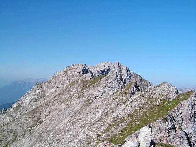 The easy ridge to Wannig from...