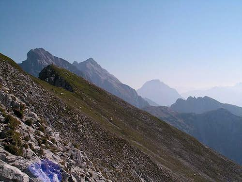 The steep south slopes of...